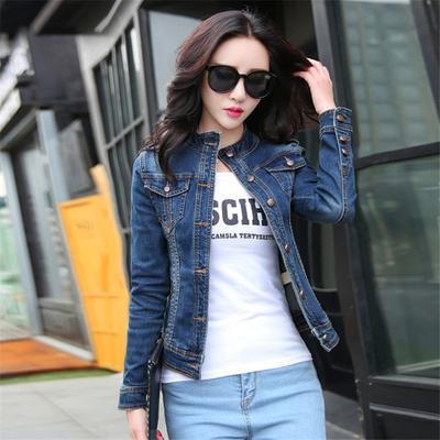 0d1784703f4 Женские джинсовые куртки Винтаж случайные однобортный Пальто женские пиджак  Жан женщин основные пальто