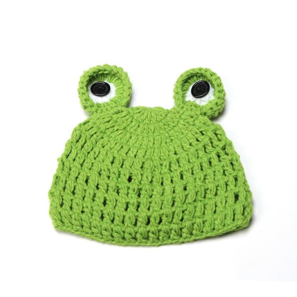 Niedliche Frosch Neugeborenen Outfits warme Set Mütze Baby Hut ...