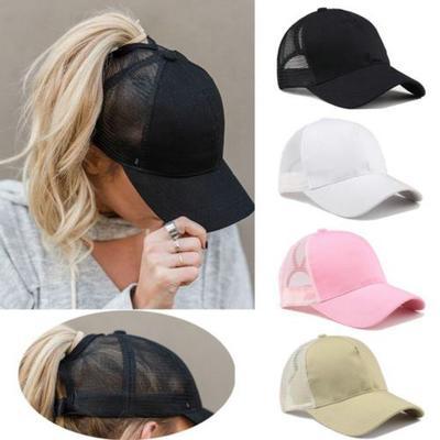 6cc81dbd546 Fashion Women Lady Ponytail Baseball Cap Women Messy Bun Baseball Hat  Snapback Sun Sport Caps