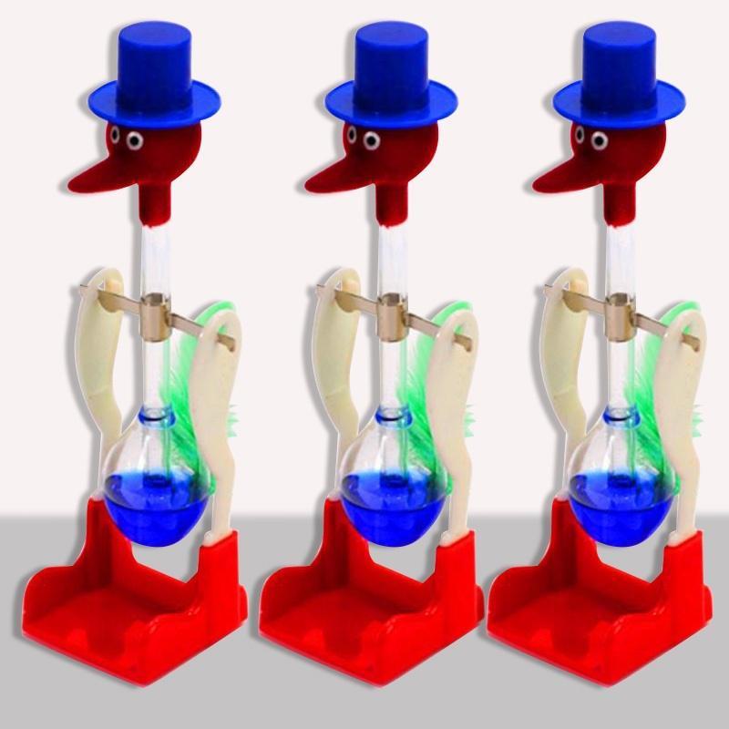 Drinking Bird Dippy Lucky Novelty Happy Duck Bobbing Toy Einstein Glass Gift