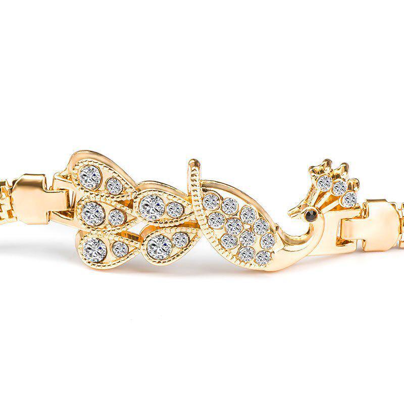 WUSHIMAOYI Beautiful Peacock Bracelet Peacock Jewelry Glass Dome Art Bracelet Jewellery Customize Your Own Style