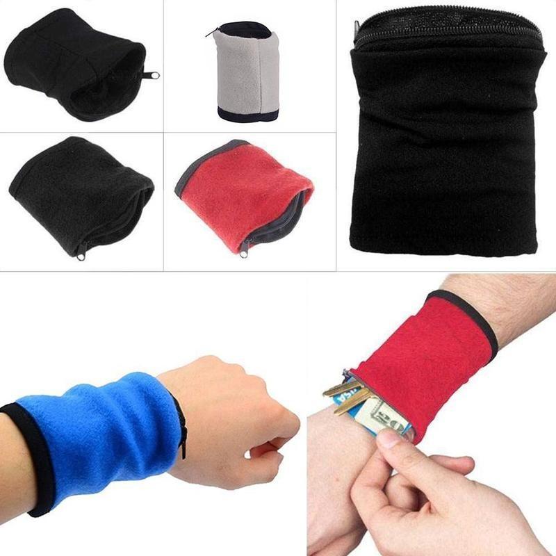 Wrist Arm Wallet Band Pouch Sports Running Wristband Zipper Storage Pocket Bag