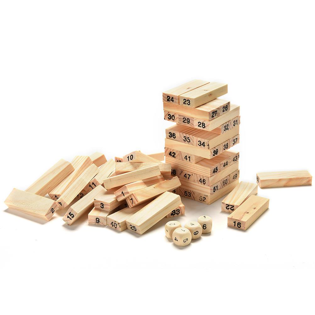 En bois tumbling stacking tower jenga enfants fête de famille board game
