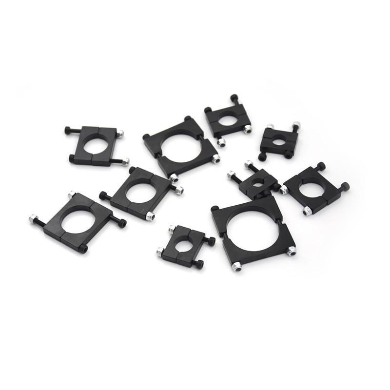 Aluminum 10mm 12mm to 40mm Carbon Fiber Arm Clamp for Quadcopter Hexacopter DIY