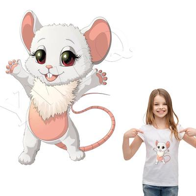 Cartoon Animal Iron-On Transfers Vynil Ironing Stickers T-shirt Thermal Patches For Clothing