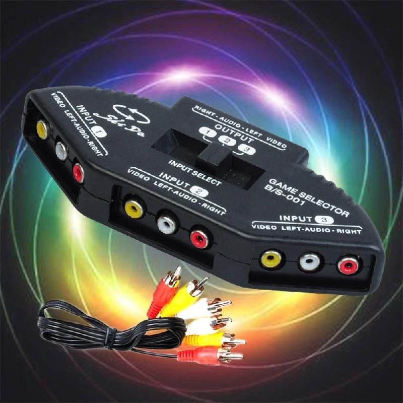 Audio/Video 3 Weg AV RCA Switch Selector Box Splitter für XBOX360 ...