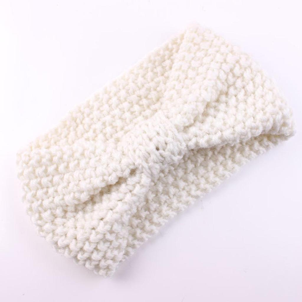 Diademas de bebé 4pcs anudada de lana arco tejer cintas turbante ...