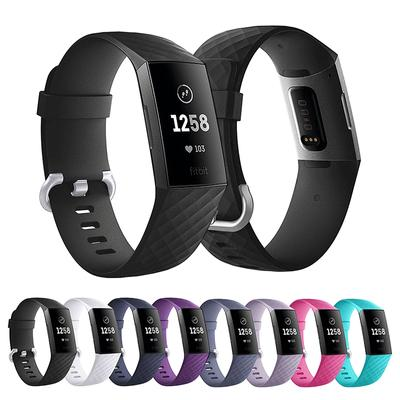 PDTO For Fitbit Charge 3 4 Strap Replacement Silicone Wristband Small Large