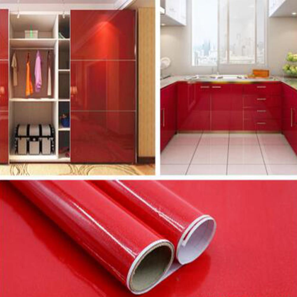 Buy Bathroom Kitchen Cabinet Backsplash Solid Color Waterproof Vinyl Wall Paper Countertop Wall Sticker At Affordable Prices Free Shipping Real Reviews With Photos Joom