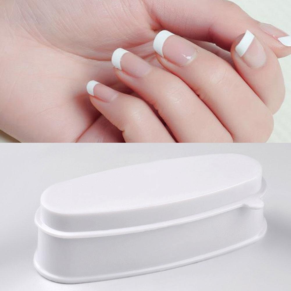 Weiß tragbare Nagel eintauchen Pulver Fach Maniküre Schimmel Nagel ...