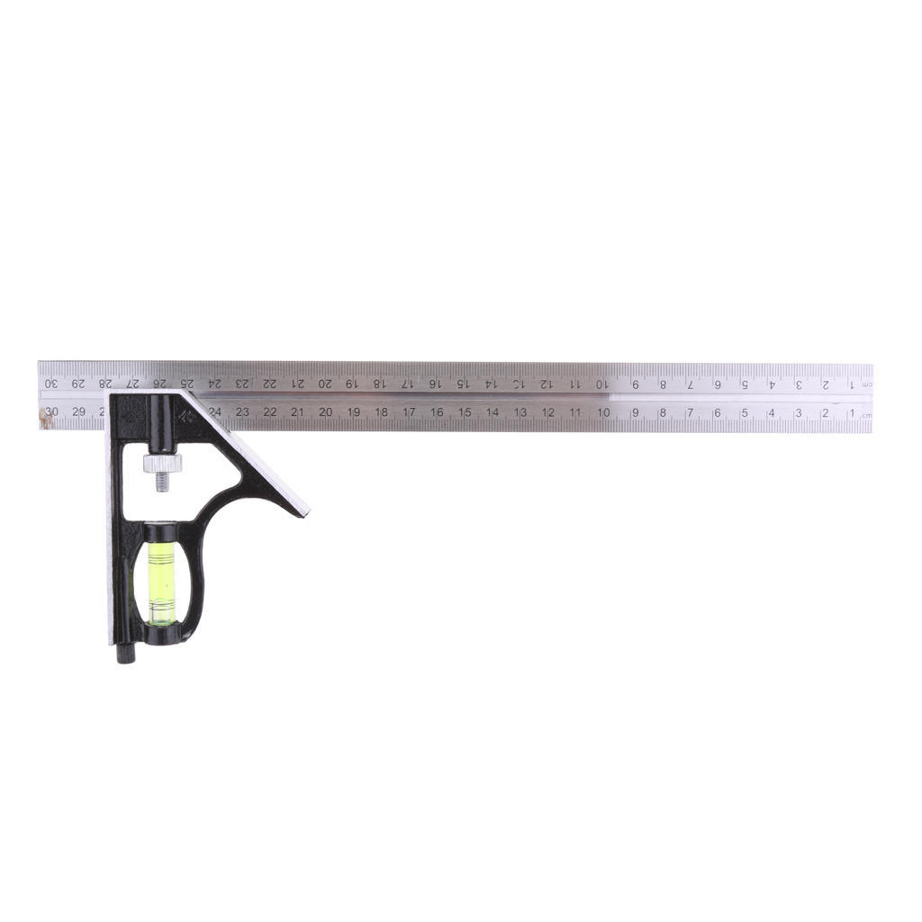 300mm Adjustable Engineers Combination Try Square Set Right Angle Ruler 12/""
