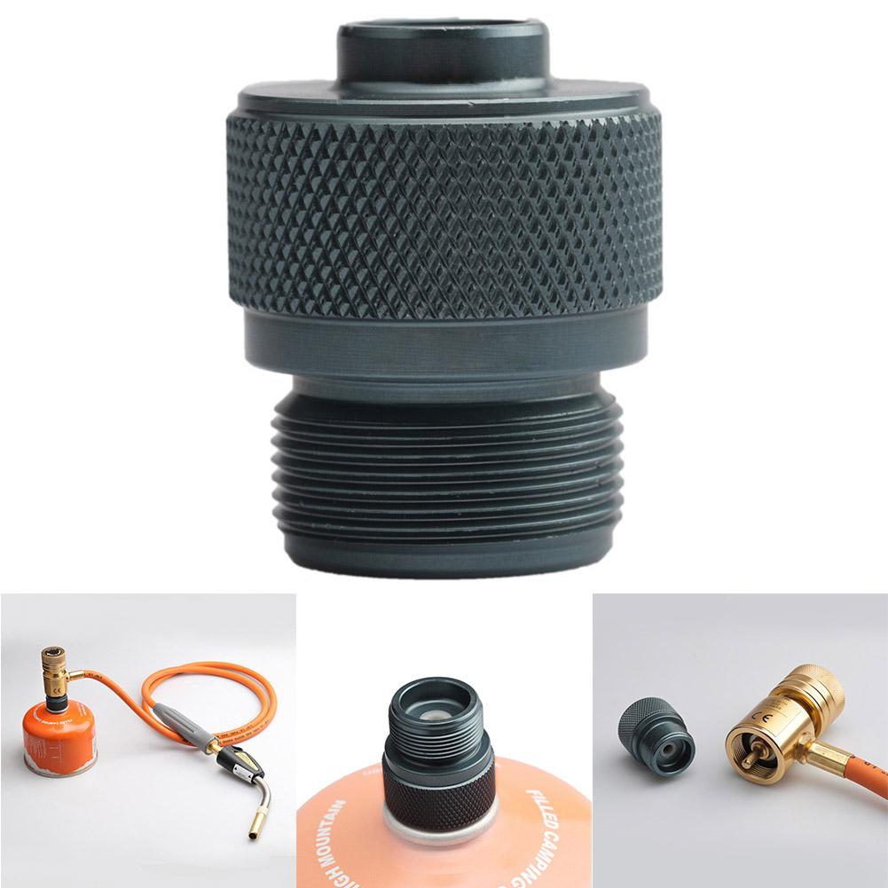 Camping Gas Stove Adapter Convertor Valve Canister To 1L Propane Gas Tank New
