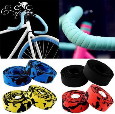 2 x 2m Road Race Bike Bicycle Cycling Handlebar Tape Ribbon Wrap with 2 Plugs