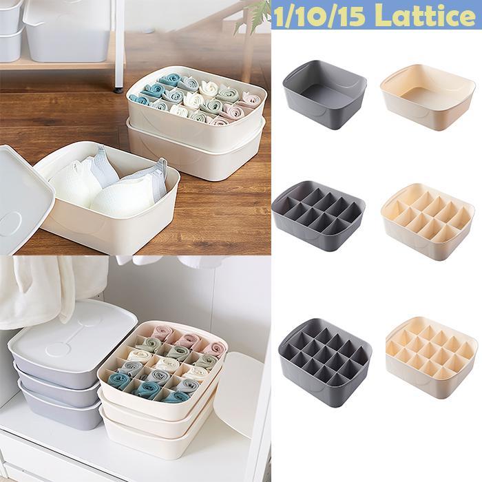 Underwear Bra Container Storage Box Sock Tie Draw Divider Organiser BL