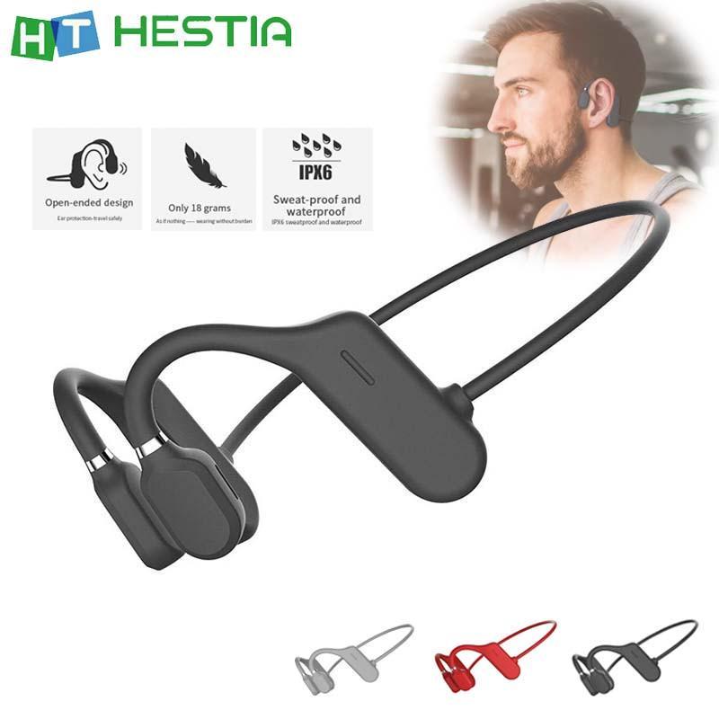 Bone Conduction Headphones Bluetooth V5.0 Sports Open Ear Wireless Headset