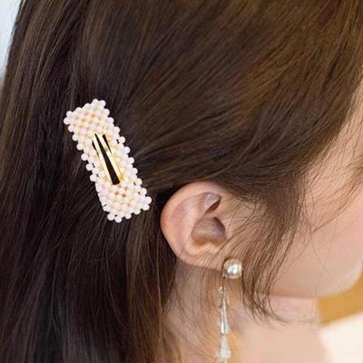 Women/'s Girls Pearl Shell Hair Clips Gold Hairpin Slide Hair Grips Barrette Set