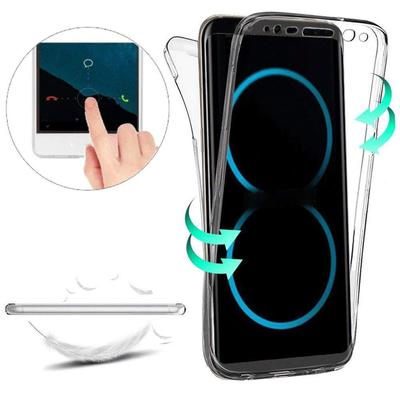 Double-sided Full Protective Clear Silicone Shockproof Case Cover For iPhone 12 Pro Max Samsung Huawei Xiaomi Etc.