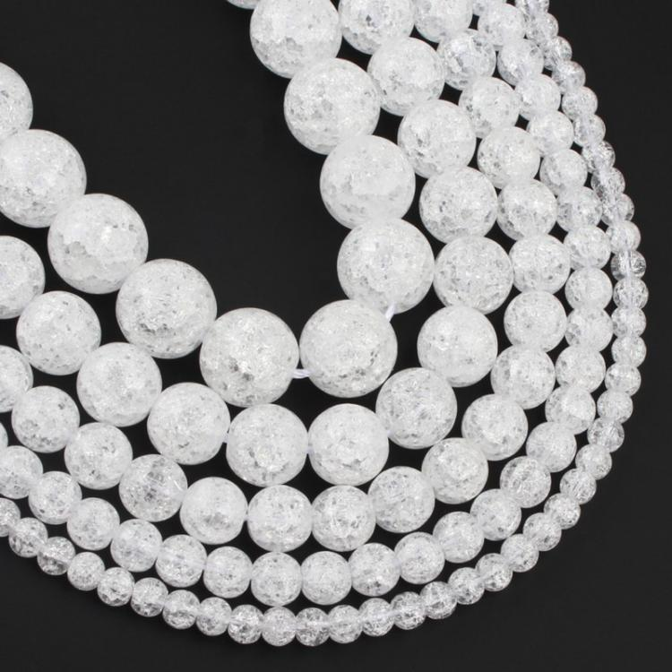 """12mm Faceted Light gray Crystal Quartz Round Loose Beads 15/"""""""