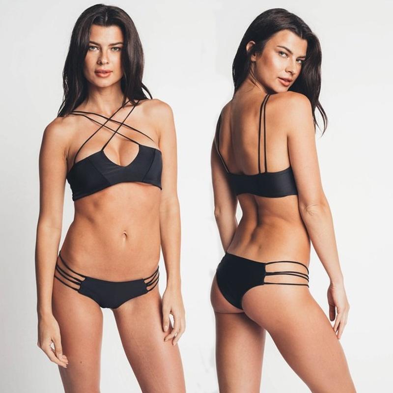 72740b5bb2660c SEXY Damskie stroje kąpielowe Bandaż Bikini Set Push-up Usztywniany ...