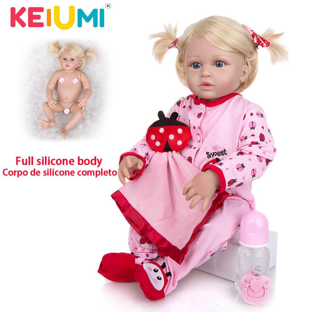 46 Cm Cute Silicone Simulation Reborn Baby Doll Handmade Lifelike Birthday Doll