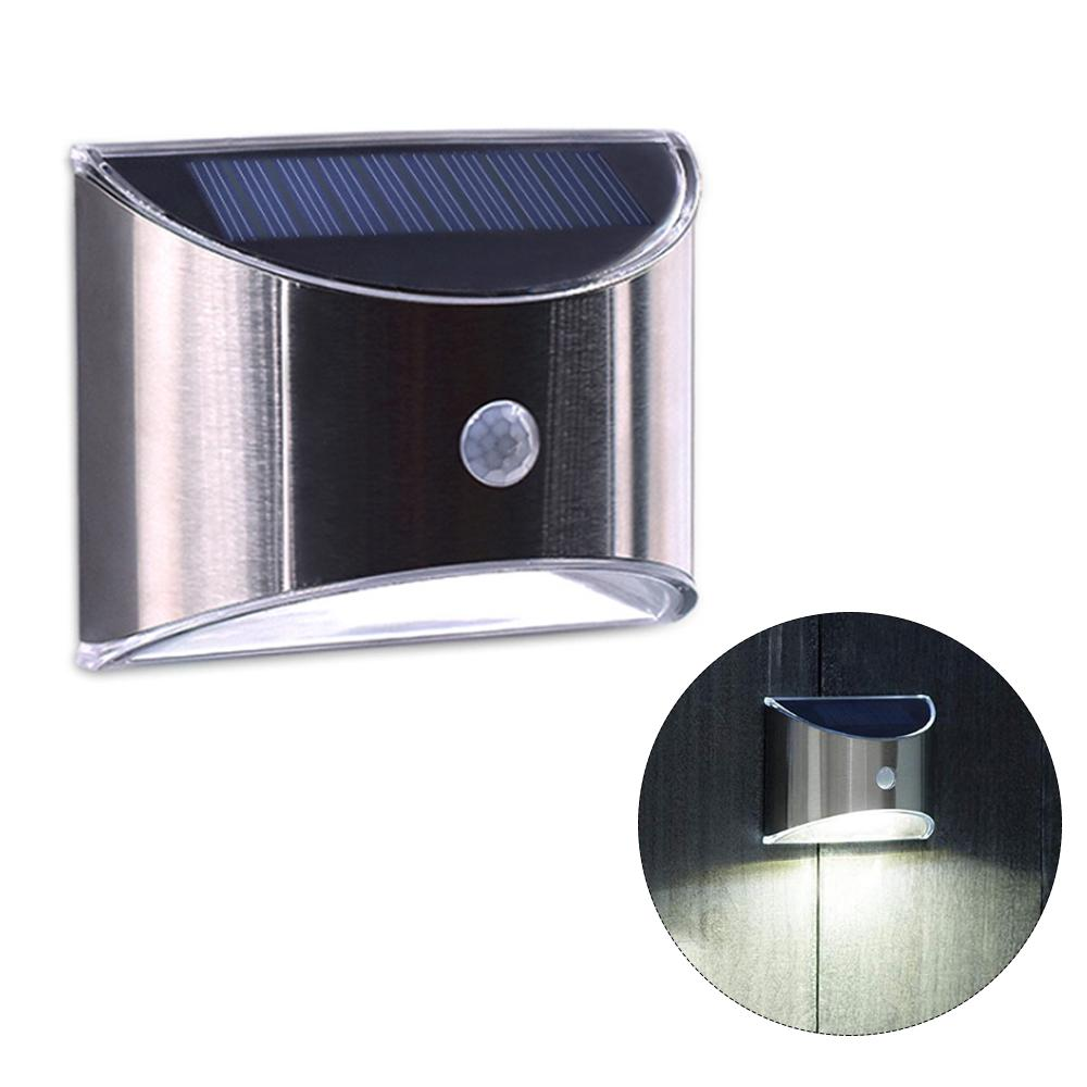 LED Solar Stair Wall Way Lights Stainless Steel Outdoor Garden Street Path Lamps