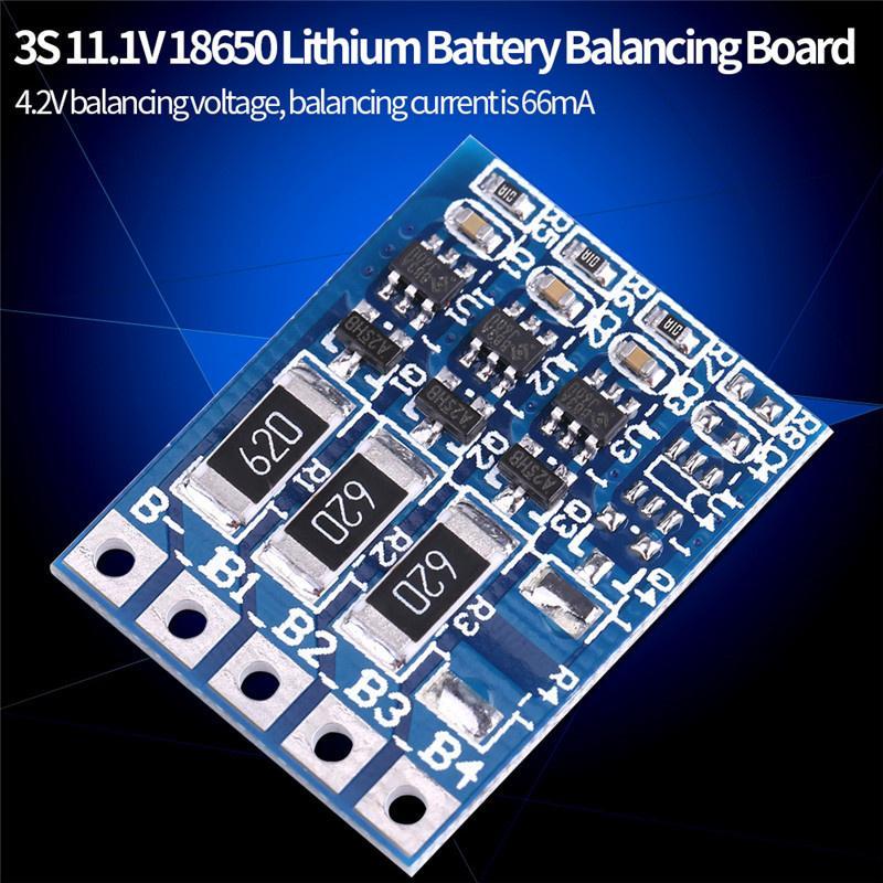 Scheda di Protezione PCB BMS Batteria 18650 agli ioni di Litio 12.6V 50A Balance 12V 3S 11.1V