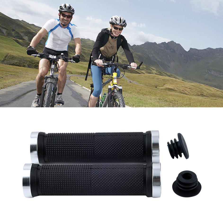 2pc Cerradura Doble en Cierre MTB Montaña Bicicleta Bici Empuñaduras Manillar