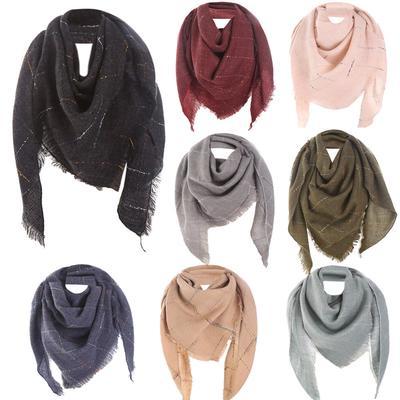 BGZ femmes hiver chaud laine Long châle Plaid imprimé doux Col écharpe 5789f23389c
