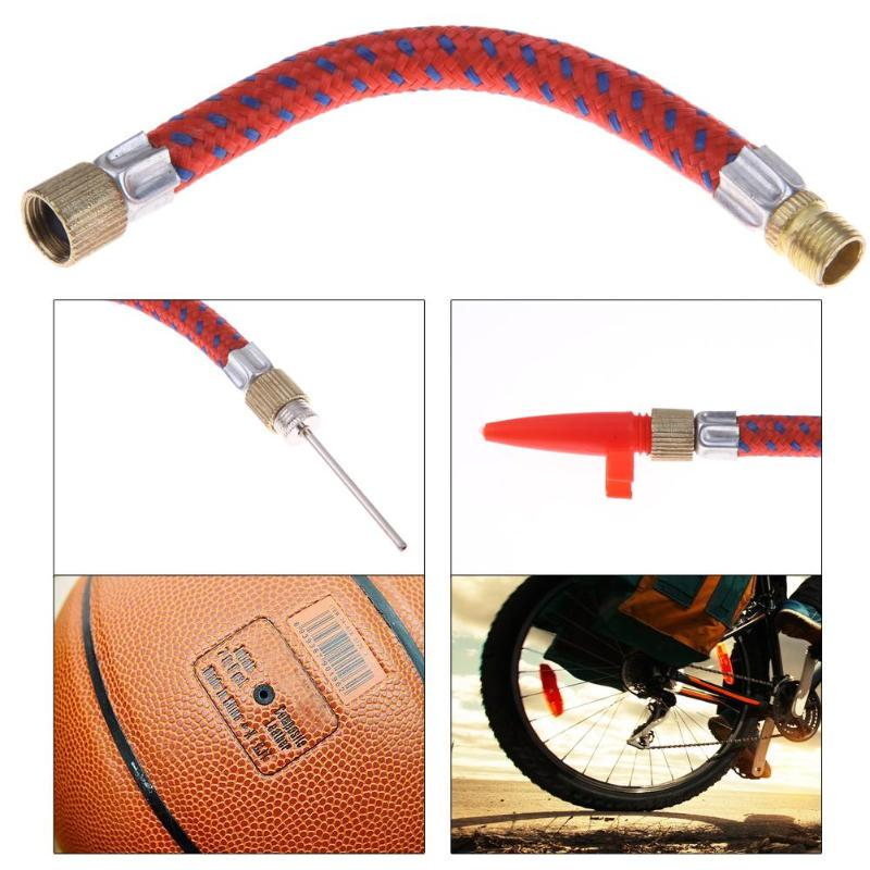 15 Pcs//Set Pump Adaptor Kit Needle Valve Connector Football Airbed Tyre Bike