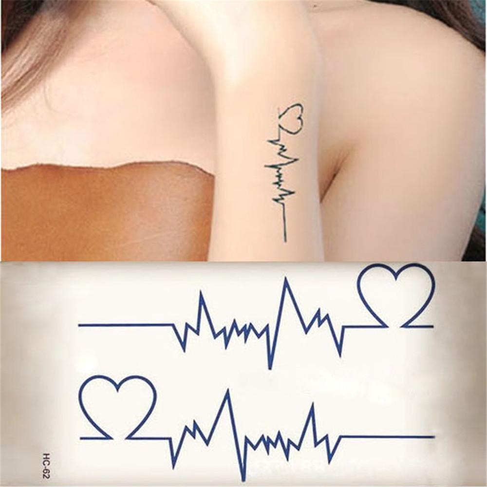 Mujeres La Moda Pegatinas Temporal Amante Del Tatuaje