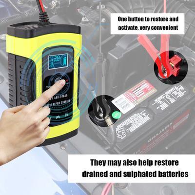 Car Battery Charger 110V 220V 12V 6A Intelligent Fast Power Digital LCD Display