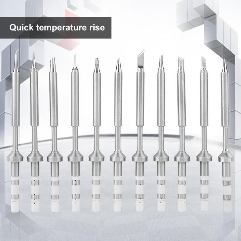 Stainless Steel Soldering Iron Tips Mini Pen Type Soldering Iron Replacement Tips for TS100 Soldering Iron 11pcs Set