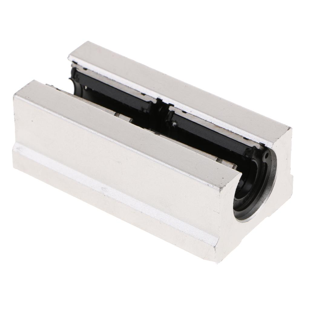 2Pcs 10mm Rectangle Flange Linear Motion Bearing Ball Bushing CNC 3D Priter