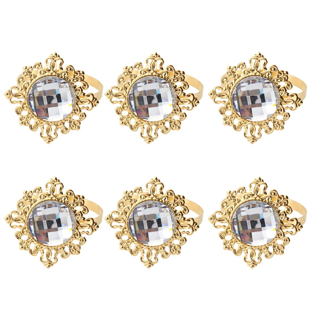 12pcs Acrylic Napkin Rings Napkin Holders Wedding Banquet Dinner Decoration Golden Buy At A Low Prices On Joom E Commerce Platform