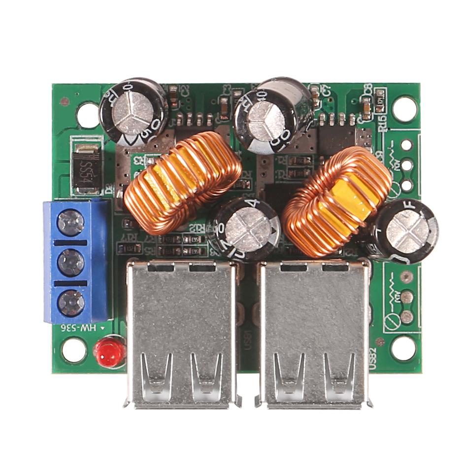 9V 40V to 5V 5A 4-USB Car Charger  Power Supply Module Driving Recorder
