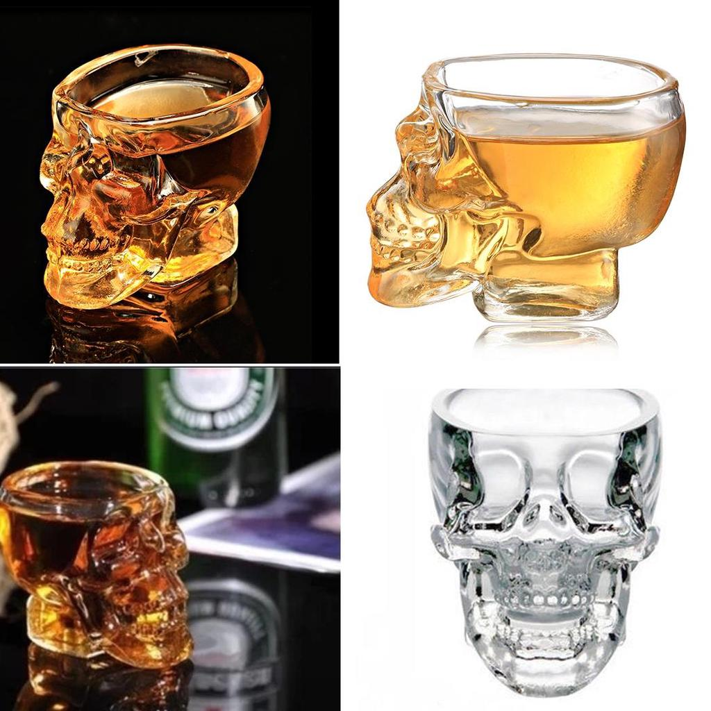 Neue Crystal Skelett Wodka Schnapsglas trinken Ware für Haus / Bar ...