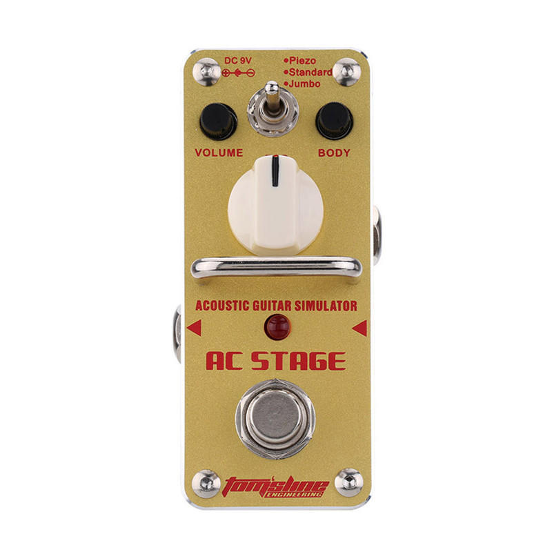 Acoustic Guitar Simulator Pedal Tomsline AAS-3 AC Stage