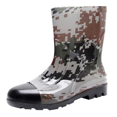 Camouflage Mid Rain Boots Men's Non-Slip Rain Boots Outdoor Rubber Water  Shoes-buy at a low prices on Joom e-commerce platform