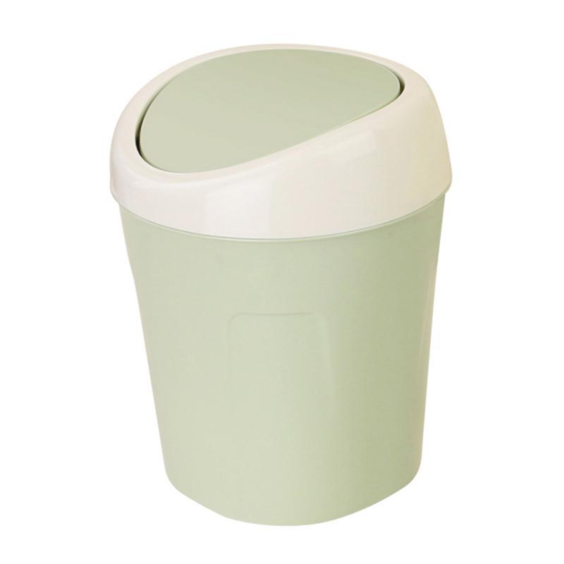 trash can creative mini desktop recycling garbage bin wastebasket dustbin household office clean storage organizer pen cup home living room box desk barrels kitchen covered sundries