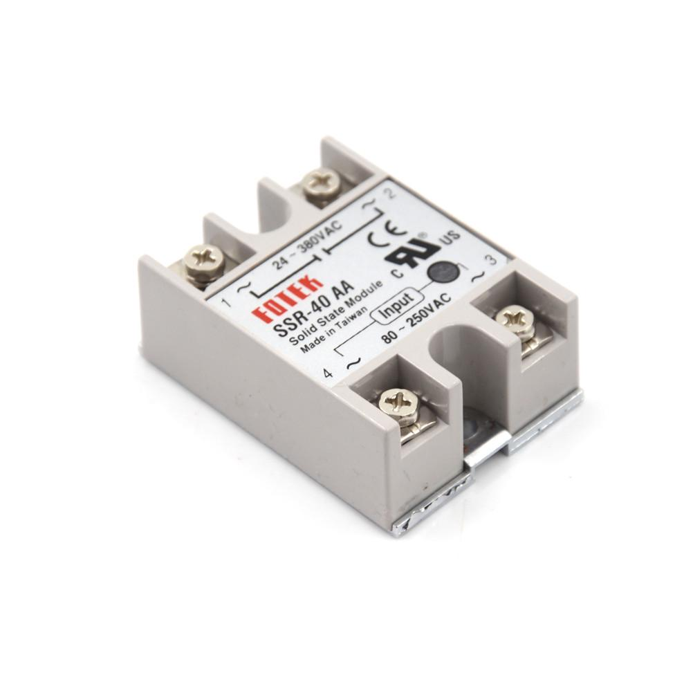 Solid State Relay Ssr 40aa H 40a Actually 80 250v Ac To 90 480v Taiwan 1 Of 4