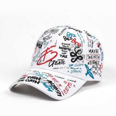 b704730cd5b8 Tapa de golf verano béisbol Cap Graffiti sol gorras Hip Hop visera sombrero  ajustable Snap-back sombreros para la mujer