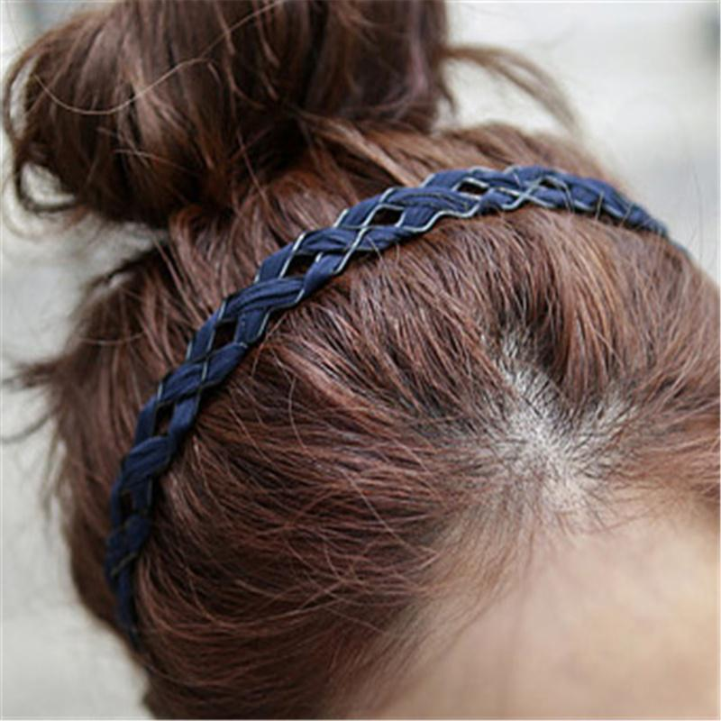 Details about  /Womens Girl Wide Fabric Braided Headband Hairband Hoop Headwrap Hair Accessories