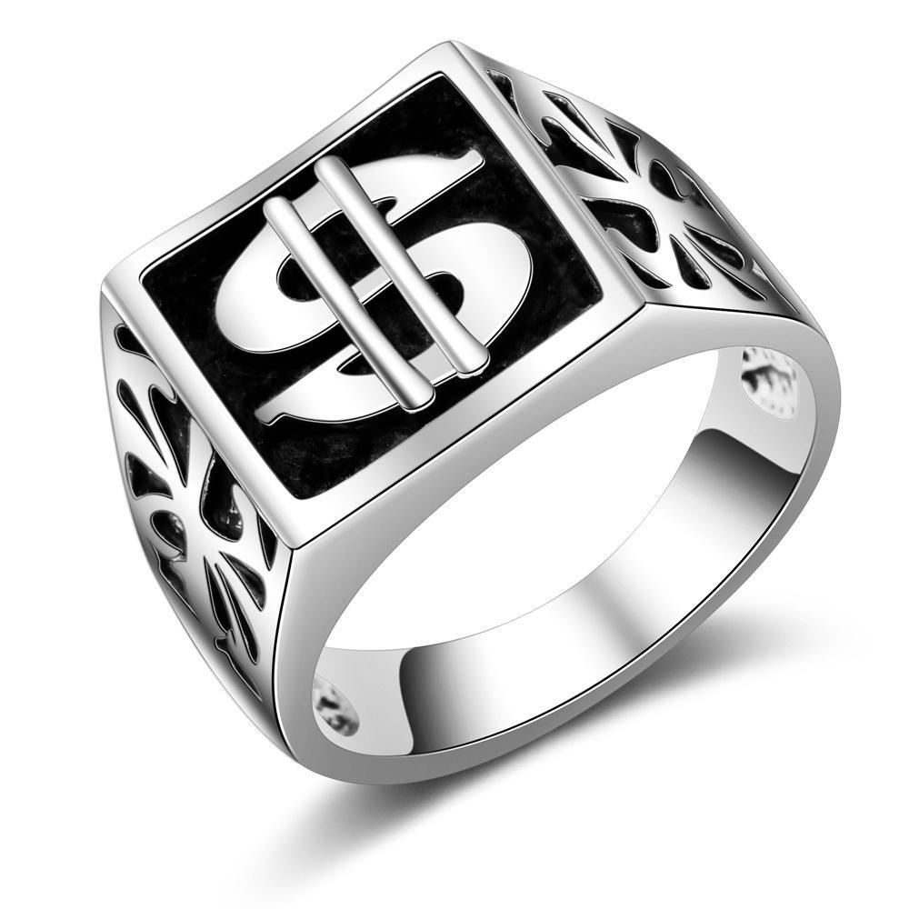 1Pc панк унисекс мужчина женщины палец кольцо Шарм подарок для любовника мужчины ретро символ капли масло палец Band фото