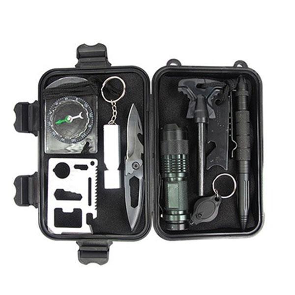 旅行户外装备求生宝盒生存工具套装多功能野外急救盒SOS应急用品