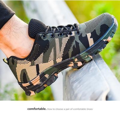 Mens Fashion Safety Shoes Breathable