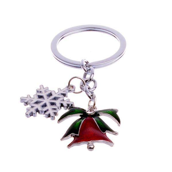 Christmas Tree Star Red Tassel Bag Purse Charm Key Ring Chain Keychain Keyring
