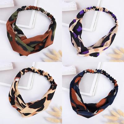 Ladies Headband Elastic Hair Band Twist Knot Hair Bands Wrap Turban Headband 011