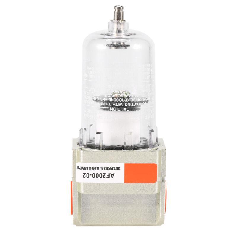"1//4/"" BSP Compressor Air Cleaner Filter AF2000-02 Manual Drain 750L//Min"