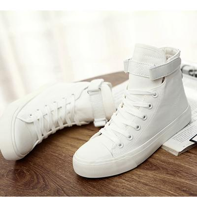 Ms. Gaobang White Cloth Shoes White