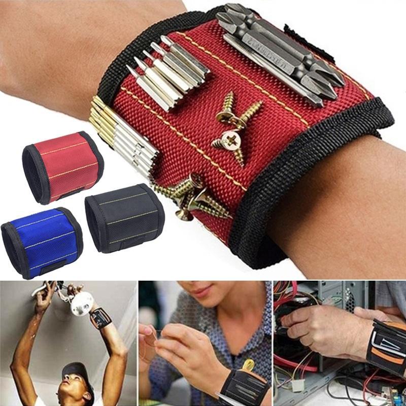 Portable Bag Magnetic Wristband Electrician Tool Wrist Screws Belt Holder 1 I5I8